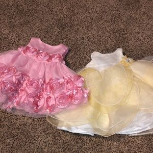 Two 0-3 dresses
